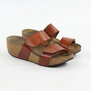 Lolasabbia Cork Wedge Platform Sandal Strap Brown